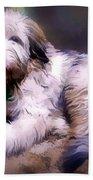 Want A Best Friend Bath Towel by Kathy Tarochione