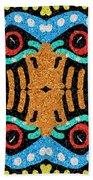 War Eagle Totem Mosaic Bath Towel