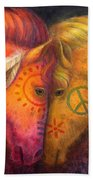 War Horse And Peace Horse Hand Towel