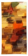 Warm Colors Abstract Bath Towel