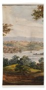 Washington And Georgetown From The Alexandria Road Bath Towel