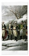Washington And His Generals  Hand Towel