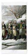 Washington And His Generals  Bath Towel