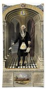 Washington As A Freemason Bath Towel