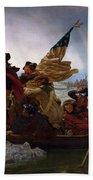 Washington Crossing The Delaware Painting - Emanuel Gottlieb Leutze Bath Towel