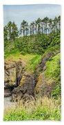 Washington State Coastline Bath Towel