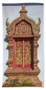 Wat Buppharam Phra Wihan Window Dthcm1582 Bath Towel