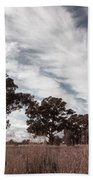 Watching Clouds Float Across The Sky Bath Towel