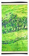Water Color Of Apple Orchard Farm Bath Towel