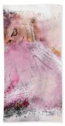 Water Colour Ballerina Bath Towel