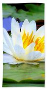 Water Lily - Digital Painting Hand Towel