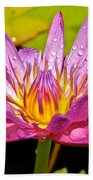 Water Lily After Rain Bath Towel
