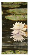 Water Lily And Pads Bath Towel