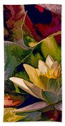 Water Lily In Living Color Bath Towel