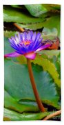 Water Lily In Tahiti Bath Towel