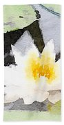 Water Lily Bath Towel