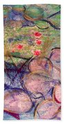 Water Lily Monotype Bath Towel