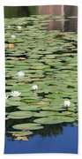 Water Lily Pond Bath Towel