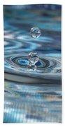 Water Sculpture In Blue 1 Bath Towel