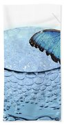 Water With Butterfly Bath Towel