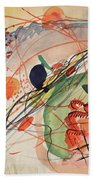 Watercolor 6 Wassily Kandinsky, 1911 Bath Towel