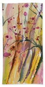 Watercolor - Autumn Forest Impression Bath Towel