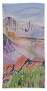 Watercolor - Blanca And Ellingwood Landscape Bath Towel