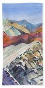 Watercolor - Colorado Elk Range View Bath Towel