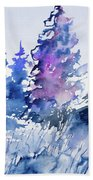 Watercolor - Colorado Winter Wonderland Bath Towel