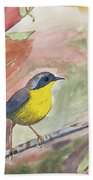 Watercolor - Common Yellowthroat Bath Towel