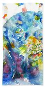 Watercolor Dachshund Bath Towel