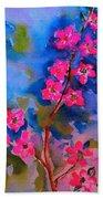 Watercolor Flowers Bath Towel