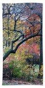 Watercolor Forest Bath Towel