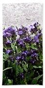 Watercolor Iris  Bath Towel