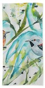 Watercolor - Ornate Antwren In The Bamboo Bath Towel