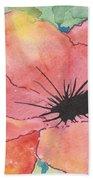 Watercolor Poppy Hand Towel