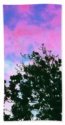 Watercolor Sky Bath Towel