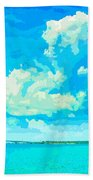Watercolor Spring On Sarasota Bay Bath Towel