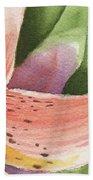 Watercolor Tiger Lily Dance Of Petals Close Up  Bath Towel