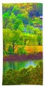 Watercolor View Bath Towel