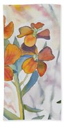 Watercolor - Wallflower Wildflowers Bath Towel