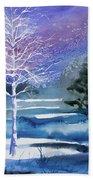 Watercolor - Winter Aspen Hand Towel