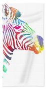 Watercolor Zebra Bath Towel