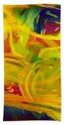 Watercolour Abstract Bath Towel
