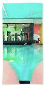 Watercolour Painting Of Relaxation On Holiday Bath Towel