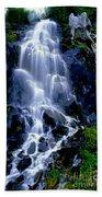 Waterfall Flowing And Ebbing Bath Towel
