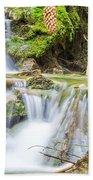 Waterfall In The Woods Bath Towel