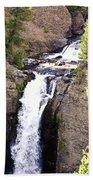 Waterfall In Yellowstone Bath Towel
