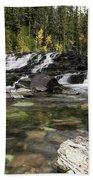 Waterfall Mcdonald Creek Bath Towel