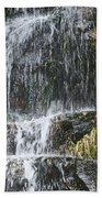Waterfall On Mount Ranier Bath Towel